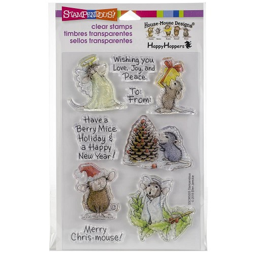 49251 Stampendous Perfectly Clear Stamps Merry Mice (SSCM5005).
