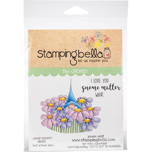 49253 Stamping Bella Cling Stamps Gnome Bouquet (EB661).