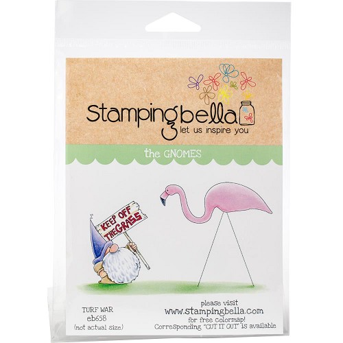 49255 Stamping Bella Cling Stamps Turf War (EB658).
