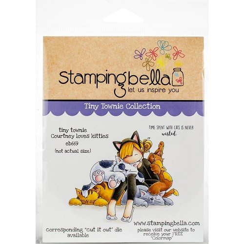 49256 Stamping Bella Cling Stamps Tiny Townie Courtney Loves Kitties (EB669).