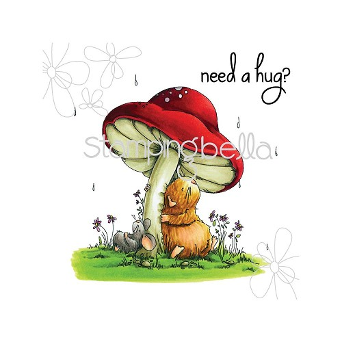 49260 Stamping Bella Cling Stamps Gilbert & Maisy Under The Toadstool (EB291).