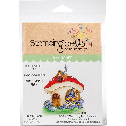 49263 Stamping Bella Cling Stamps Gnome Home (EB663).