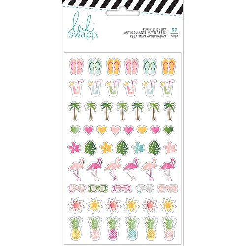 49298 Heidi Swapp Pineapple Crush Puffy Stickers (314193).