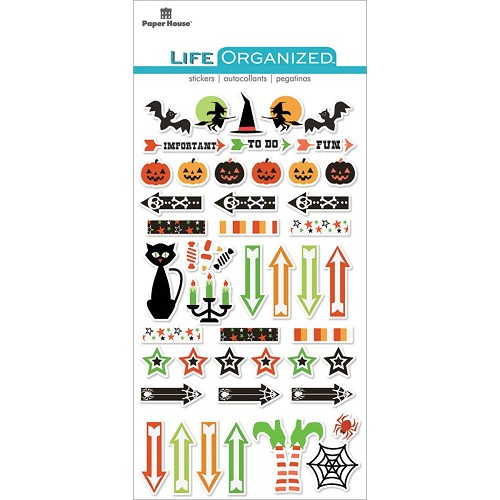 49302 Paper House Life Organized Epoxy Stickers Halloween.