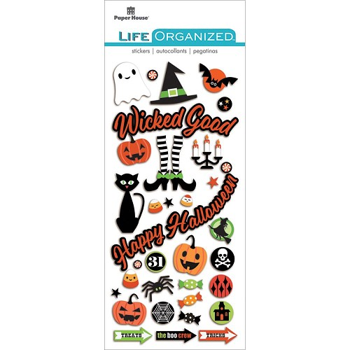 49303 Paper House Life Organized Puffy Stickers Halloween.
