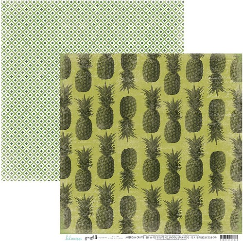 "49386 Heidi Swapp Pineapple Crush Double-Sided Cardstock 12""X12""Pina Colada."