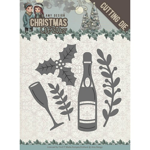 49491 Dies - Amy Design - Christmas Wishes - Champagne (ADD10152).