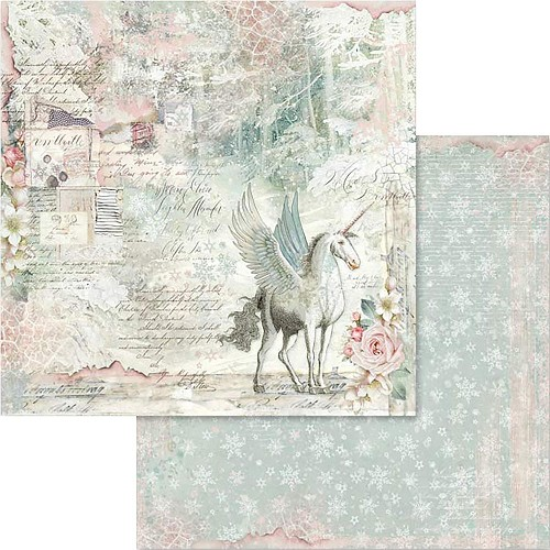 "49529 Stamperia Double-Sided Cardstock 12""X12"" Unicorn Fantasy (SBB558)."