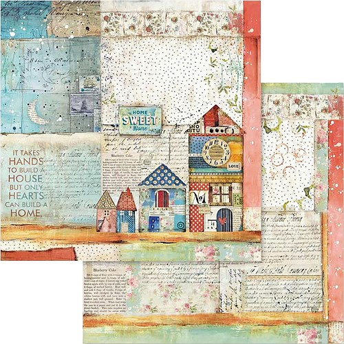 "49541 Stamperia Double-Sided Cardstock 12""X12"" Patchwork Cardss (SBB570)."