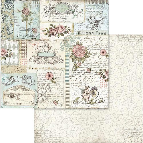 "49551 Stamperia Double-Sided Cardstock 12""X12"" Rose & Angels (SBB580)."