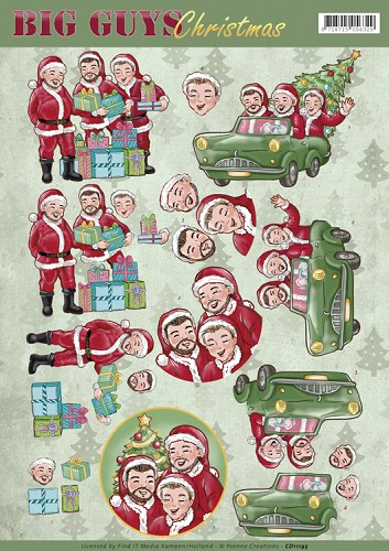 49573 (1008-972) Yvonne Creations -Big Guys Christmas - Santa`s (CD11195).