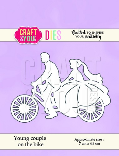 49601 Craft and You Design Die Young couple on the bike 7x4,9cm (CW053).
