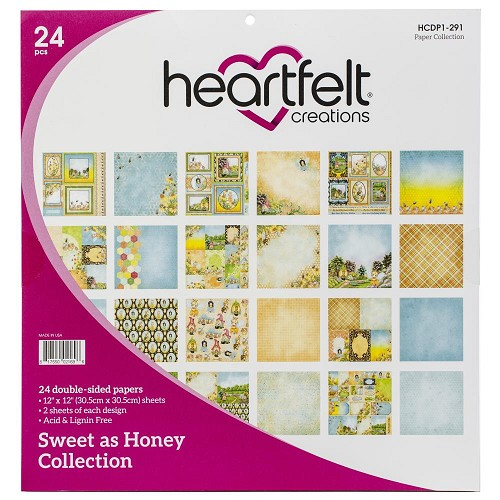 "49643 Heartfelt Creations Double-Sided Paper Pad 12""X12"" 24/Pkg Sweet As Honey, 12 Designs."