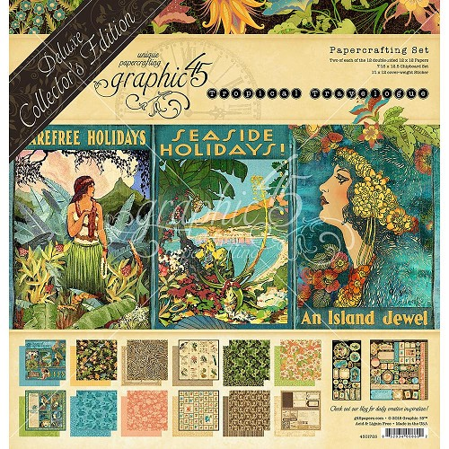 49646 Graphic 45 Deluxe Collector`s Edition Pack Tropical Travelogue (4501723).