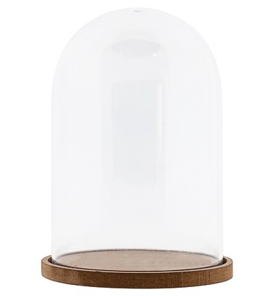 49658 Studio Light Plastic Dome with MDF Baseplate Ø 11 cm 15,5 cm High (PLASTICDOME11).