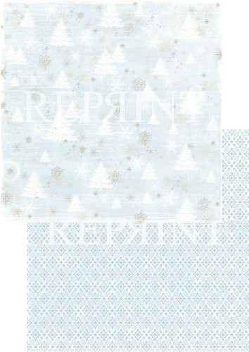 49738 Reprint Nordic Light Collection Patterned Paper 12x12, 200 gm Trees.