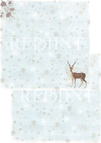 49739 Reprint Nordic Light Collection Patterned Paper 12x12, 200 gm Reindeer.