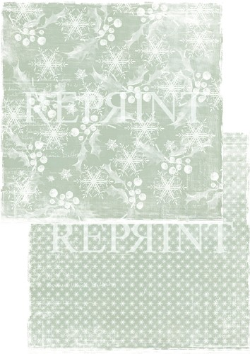49740 Reprint Nordic Light Collection Patterned Paper 12x12, 200 gm White Christmas.