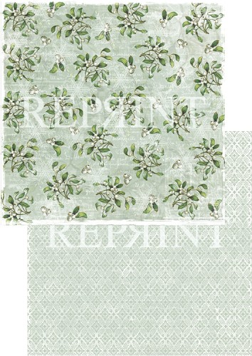 49742 Reprint Nordic Light Collection Patterned Paper 12x12, 200 gm White Berries.