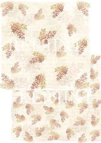 49744 Reprint Nordic Light Collection Patterned Paper 12x12, 200 gm Christmas Flowers.