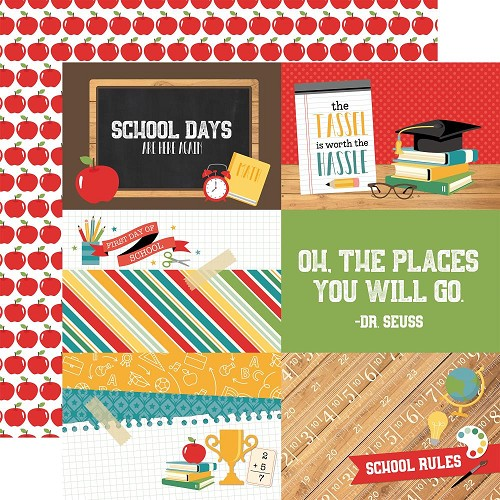 "49752 Echo Park Back To School Double-Sided Cardstock 12""X12-""4""X6"" Journaling Cards."