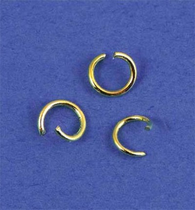 49758 Hobby Crafting Fun Split Ring, Gold 50pcs / 5mm (12016-1608).