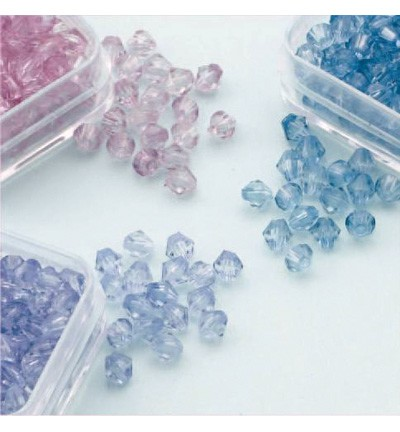 49762 Hobby Crafting Fun Bicones - Diamand Trio 4mm  (12034-0405).