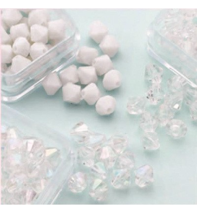 49764 Hobby Crafting Fun Bicones - Diamand Trio 6mm  (12034-0606).