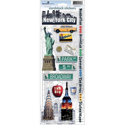 49783 Paperhouse Stickers NYC.