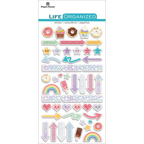 49871 Paper House Life Organized Epoxy Stickers Kawaii.
