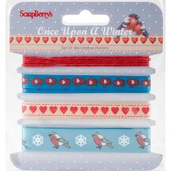 49872 Scrapberrys Once Upon A Winter Ribbon & Trim 4x1 Meter Pkg.