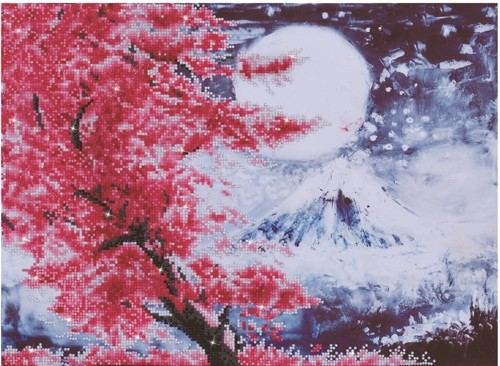 49875 DD9.015 Diamond Dotz - 52 x 38cm - Cherry Blossom Mountain.