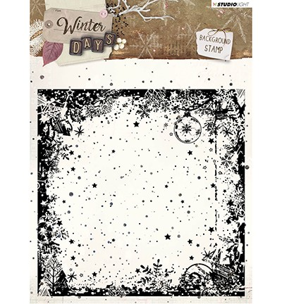 49941 Studio Light - Stamp Background Winter Days, nr. 314 (STAMPWD314).
