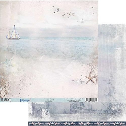 "49975 49 Market Island Paradise Double-Sided Cardstock 12""X12"" Time To Coast."