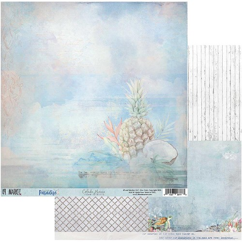 "49980 49 Market Island Paradise Double-Sided Cardstock 12""X12"" Colada Heaven."
