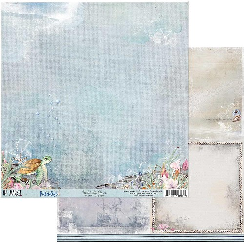 "49983 49 Market Island Paradise Double-Sided Cardstock 12""X12"" Under The Ocean."