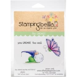49993 Stamping Bella Cling Stamps The Gnome & The Butterfly (EB660).