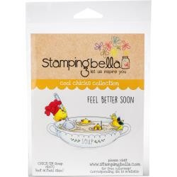 49994 Stamping Bella Cling Stamps Chick-en Soup (EB670).