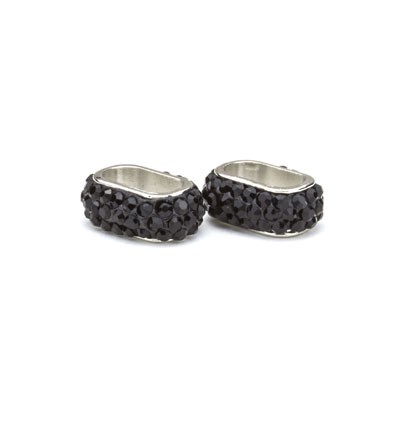 50003 Hobby Crafting Fun Clay Bead Black 2pcs / 12x6mm (12351-5101).