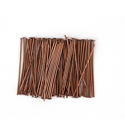 50007 Hobby Crafting Fun Head Pin, Antique Copper 100pcs/32mm (10317-3203).