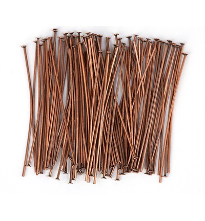 50009 Hobby Crafting Fun Head Pin, Antique Copper 100pcs/45mm (10317-4503).