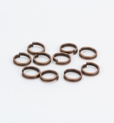 50010 Hobby Crafting Fun Ring Dubbel Antique Copper 10pcs/6mm (11808-1533).