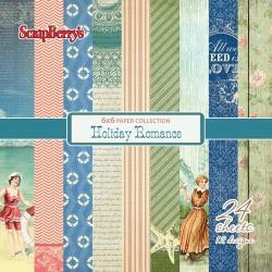 "50061 ScrapBerry`s Holiday Romance Paper Pack 6""X6"" 24/Pkg 12 Single-Sided Designs/2 Each."