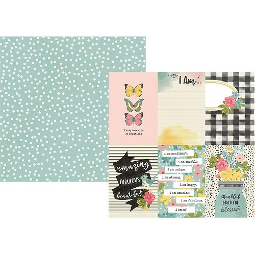 "50091 Simple Stories I Am Double-Sided Cardstock 12""X12""4""X6"" Vertical Elements."