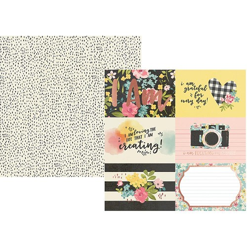 "50092 Simple Stories I Am Double-Sided Cardstock 12""X12""4""X6"" Horizontale Elements."