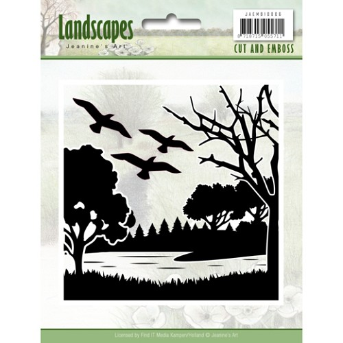 50137 Cut and Embossing folder - Jeanine`s Art - Landscapes (JAEMB10006).