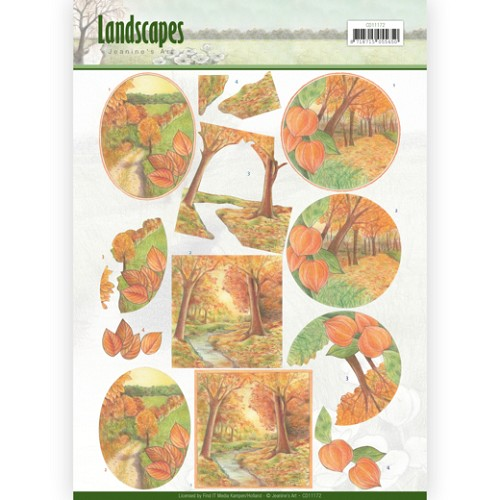 50143-bl2  3D knipvel - Jeanine`s Art - Landscapes - Fall Landscapes(CD11172).