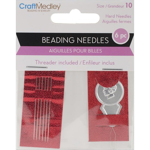50152 Beading Needles W/Threader Size 10 6/Pkg.