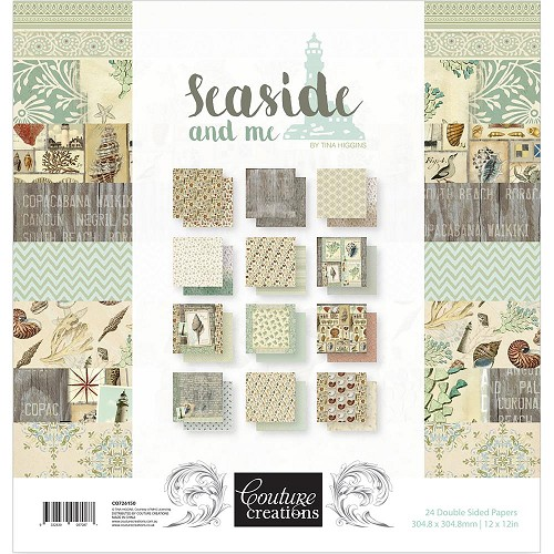 "50160 Couture Creations Double-Sided Paper Pad 12""X12"" 24/Pkg Seaside And Me, 12 Designs/2 Each."
