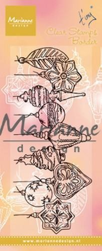 50222 Marianne Design Clear Stamps Tiny`s Border - Kerstballen (TC0868).